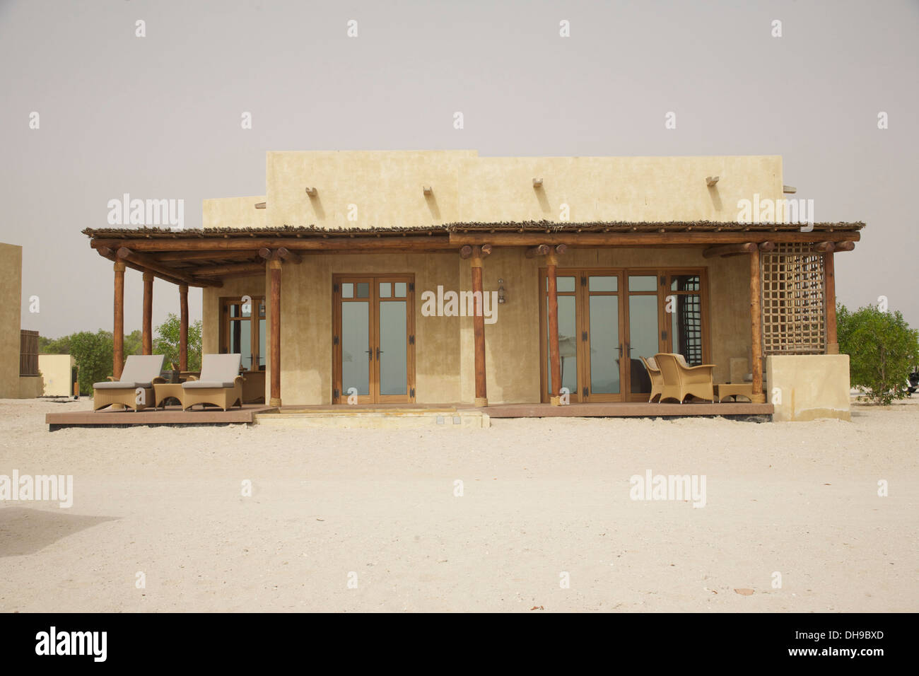 New beach villa at Sir Bani Yas Island, Abu Dhabi - Stock Image