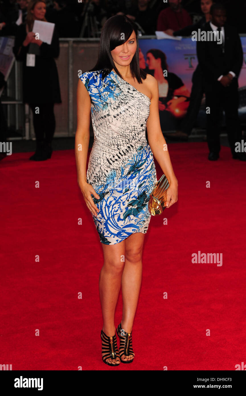 Linzi Stoppard at the premiere of 'Titanic 3D' at Royal Albert Hall London, England - 27.03.12 - Stock Image