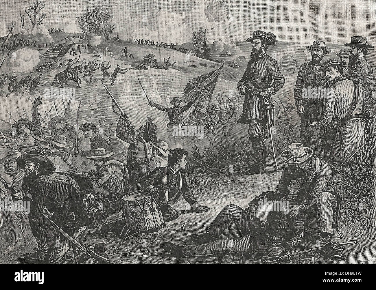 Stonewall Jackson at the Battle of Bull Run - 1861 - Stock Image