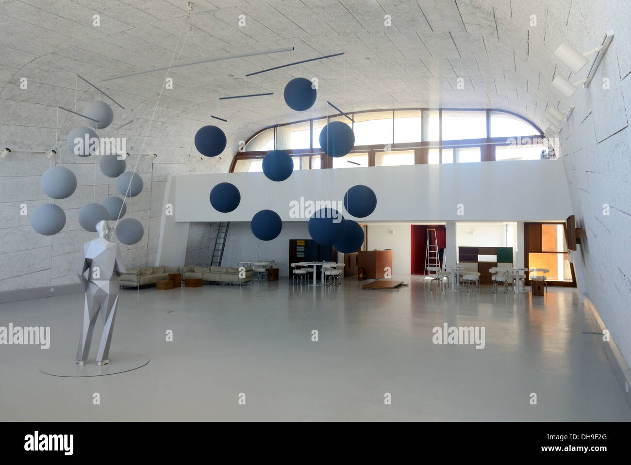 MAMO Art Gallery & Design Center Former Gymnasium Unité d'Habitation designed by Le Corbusier Marseille - Stock Image