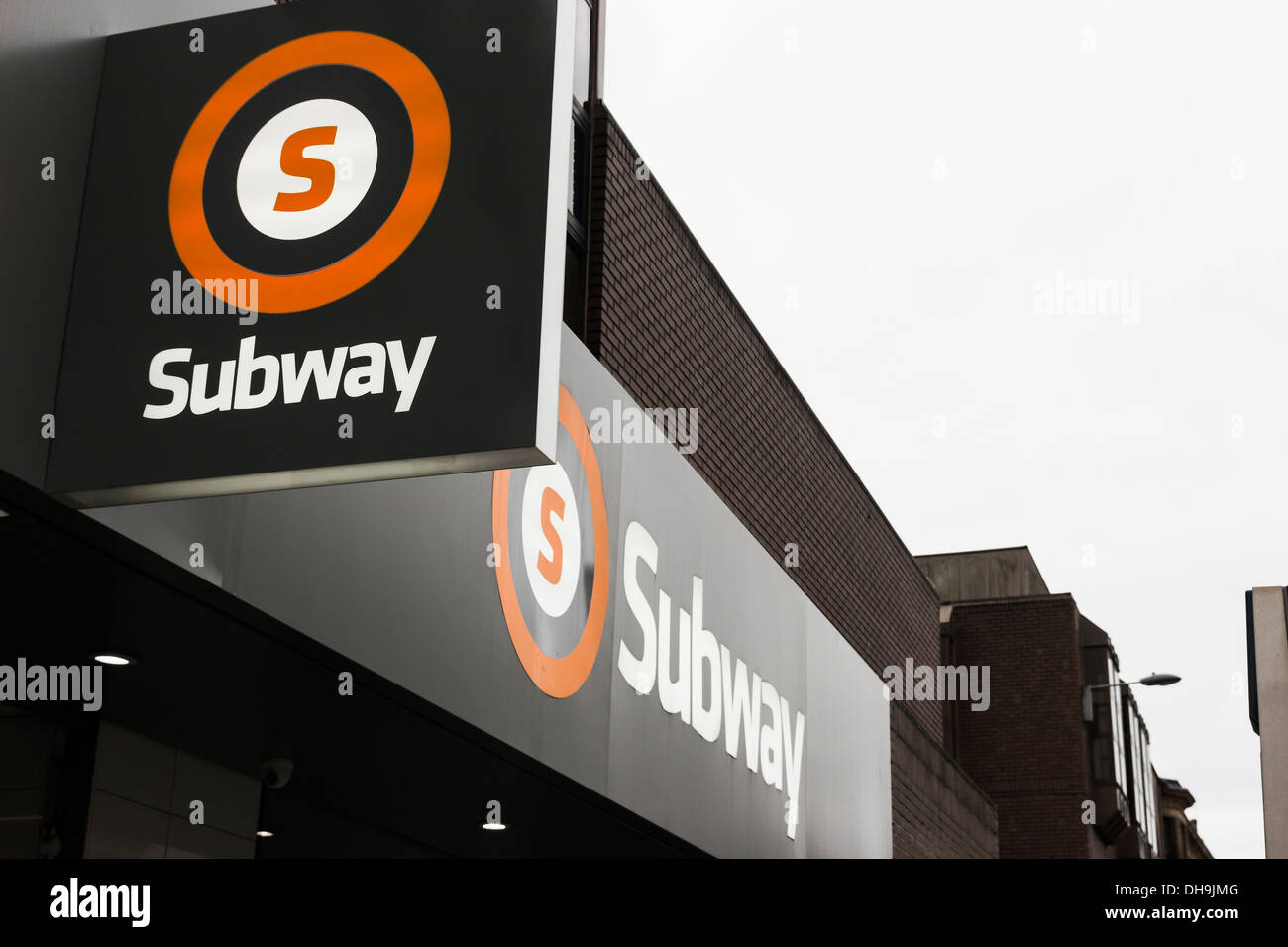 Opened in 1896 the Glasgow subway system is the third oldest metro system (after London and Budapest) - Stock Image