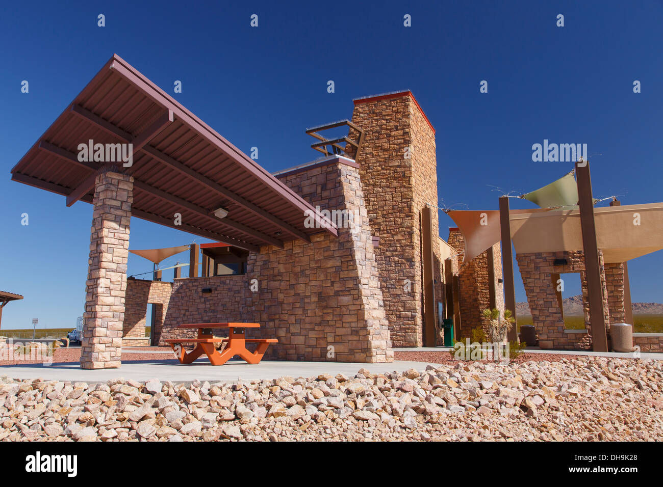 Rest area along Highway 95, Nevada. Stock Photo