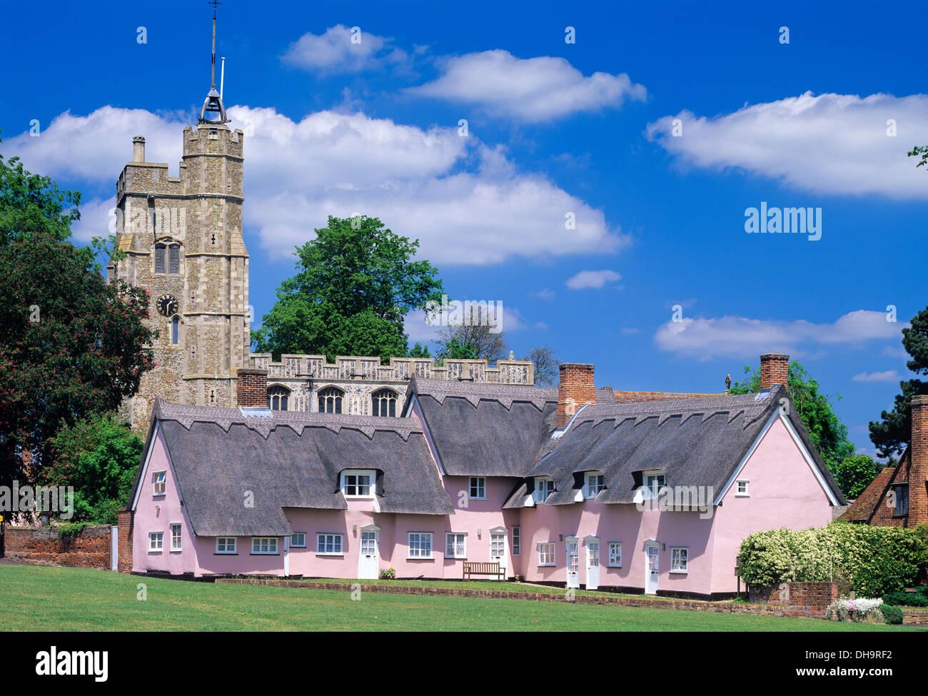 Cottages, Cavendish, Suffolk, England, UK. - Stock Image