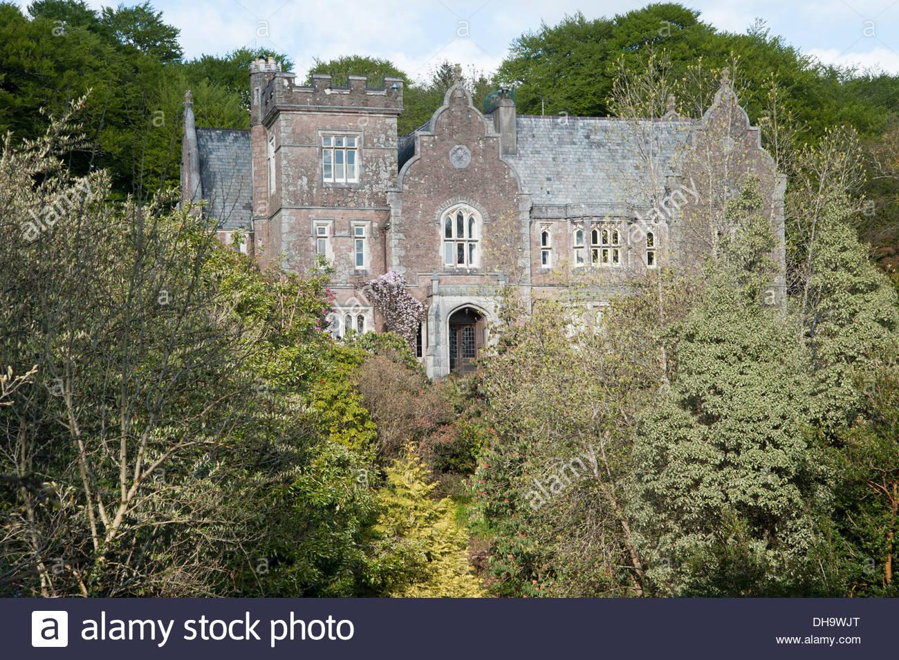 The Victorian Gothic House Built 1862 As A Hunting Lodge Lukesland Ivybridge Devon UK