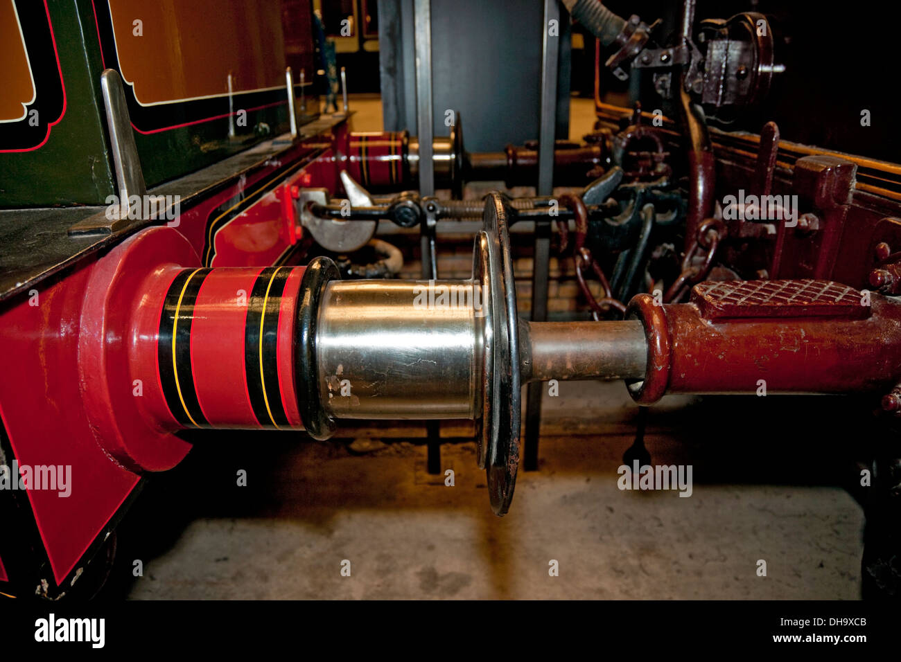 Railway carriage buffers at the National Railway Museum York North Yorkshire England UK United Kingdom GB Great Britain - Stock Image