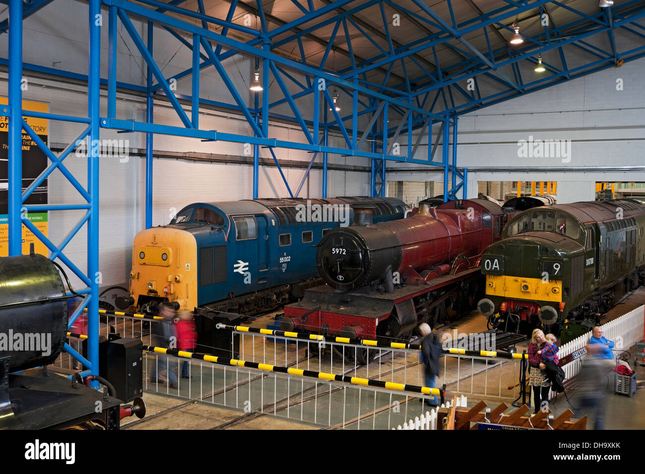 Diesel and steam trains at the National