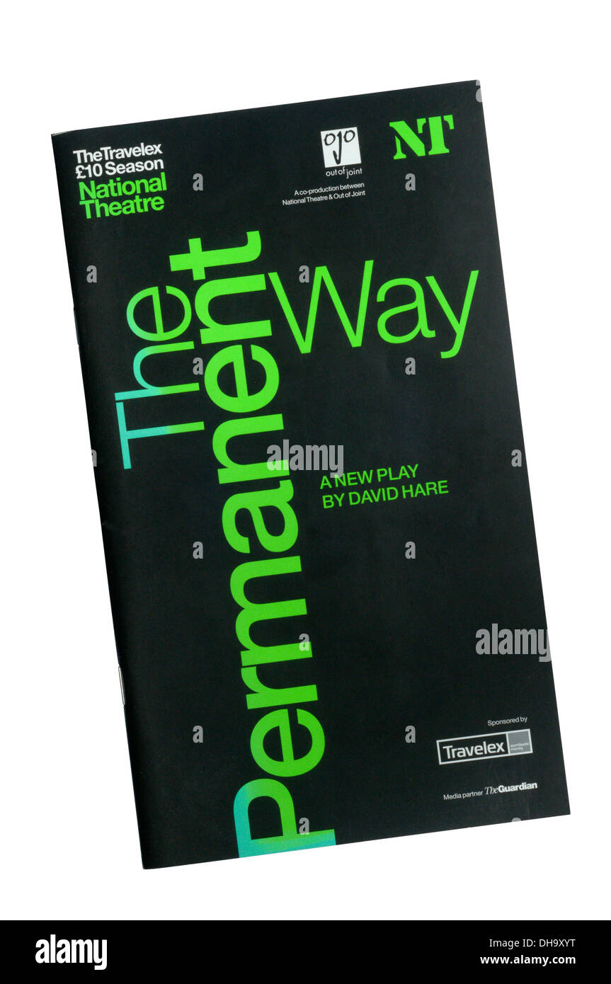 Programme for the 2004 production of The Permanent Way by David Hare at the Lyttelton Theatre. - Stock Image