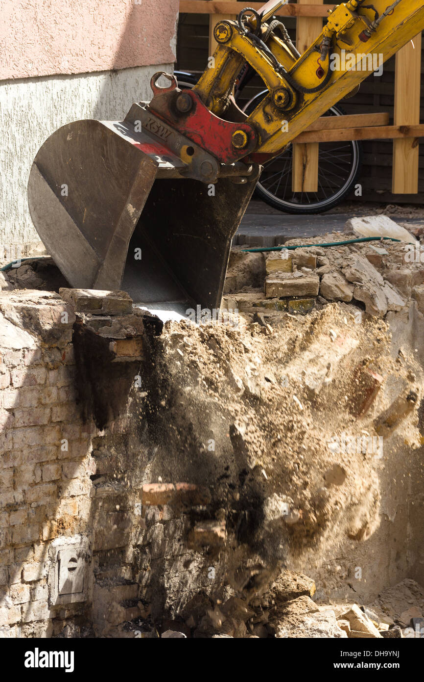 Demolition work. Warnemunde Rostock Germany - Stock Image