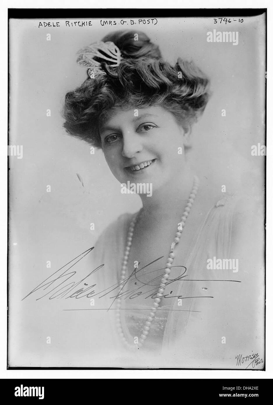 Adele Ritchie (Mrs. G.B. Post) (LOC) - Stock Image