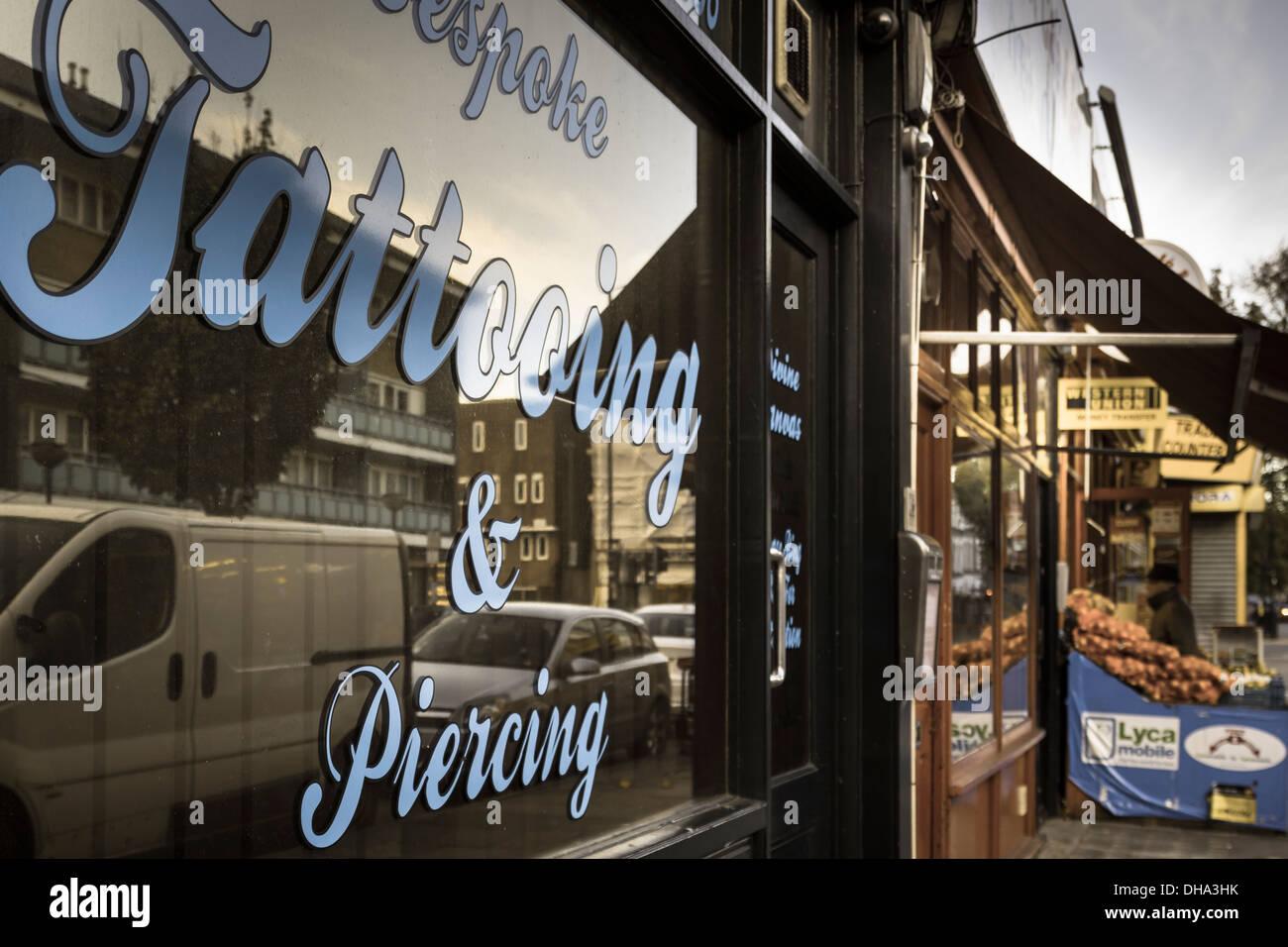 Boutique shop london stock photos boutique shop london for Tattoo shop hackney road