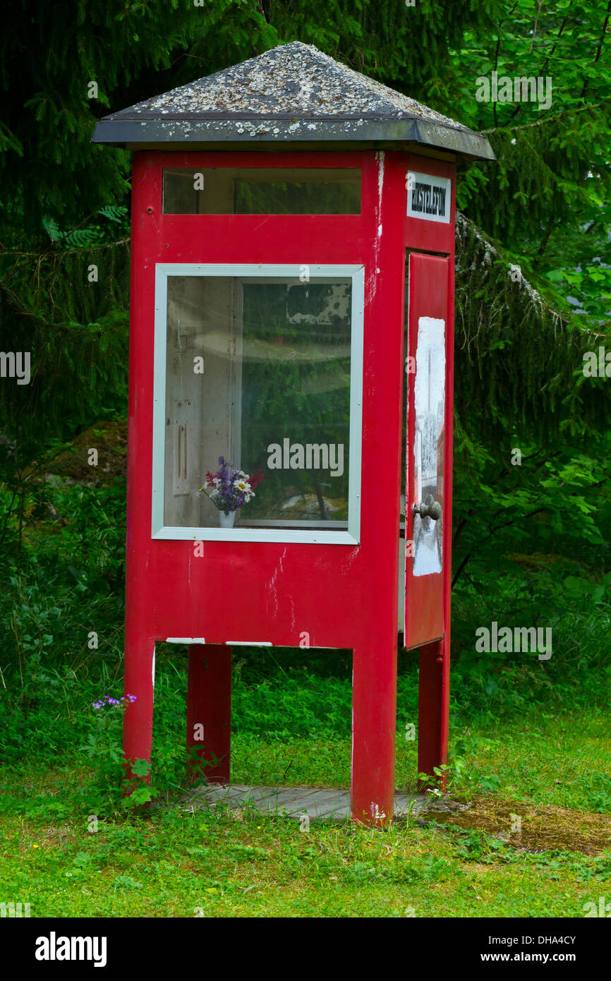 Swedish old-fashioned phone booth - Stock Image