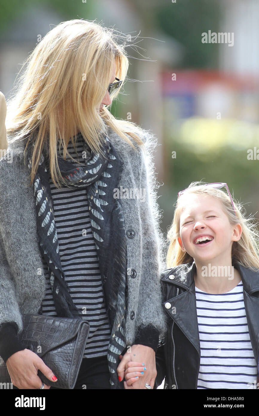 Kate Moss Lila Kate Moss with husband Jamie Hince and daughter Lila Grace out and about in Hampstead London England - 10.04.12 - Stock Image