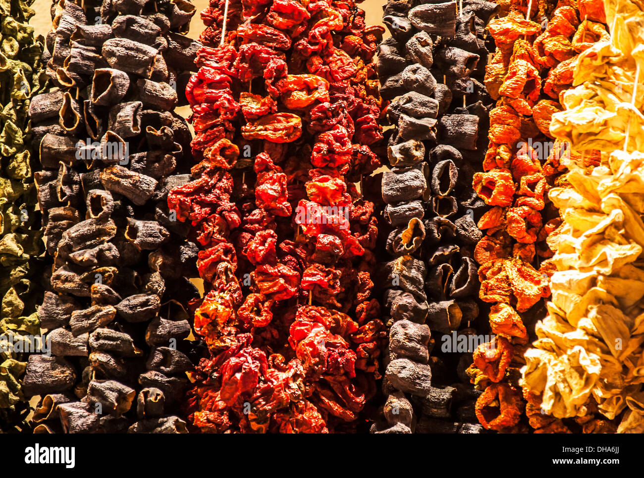 dried fruits in a bazar, Istanbul. Turkey Stock Photo
