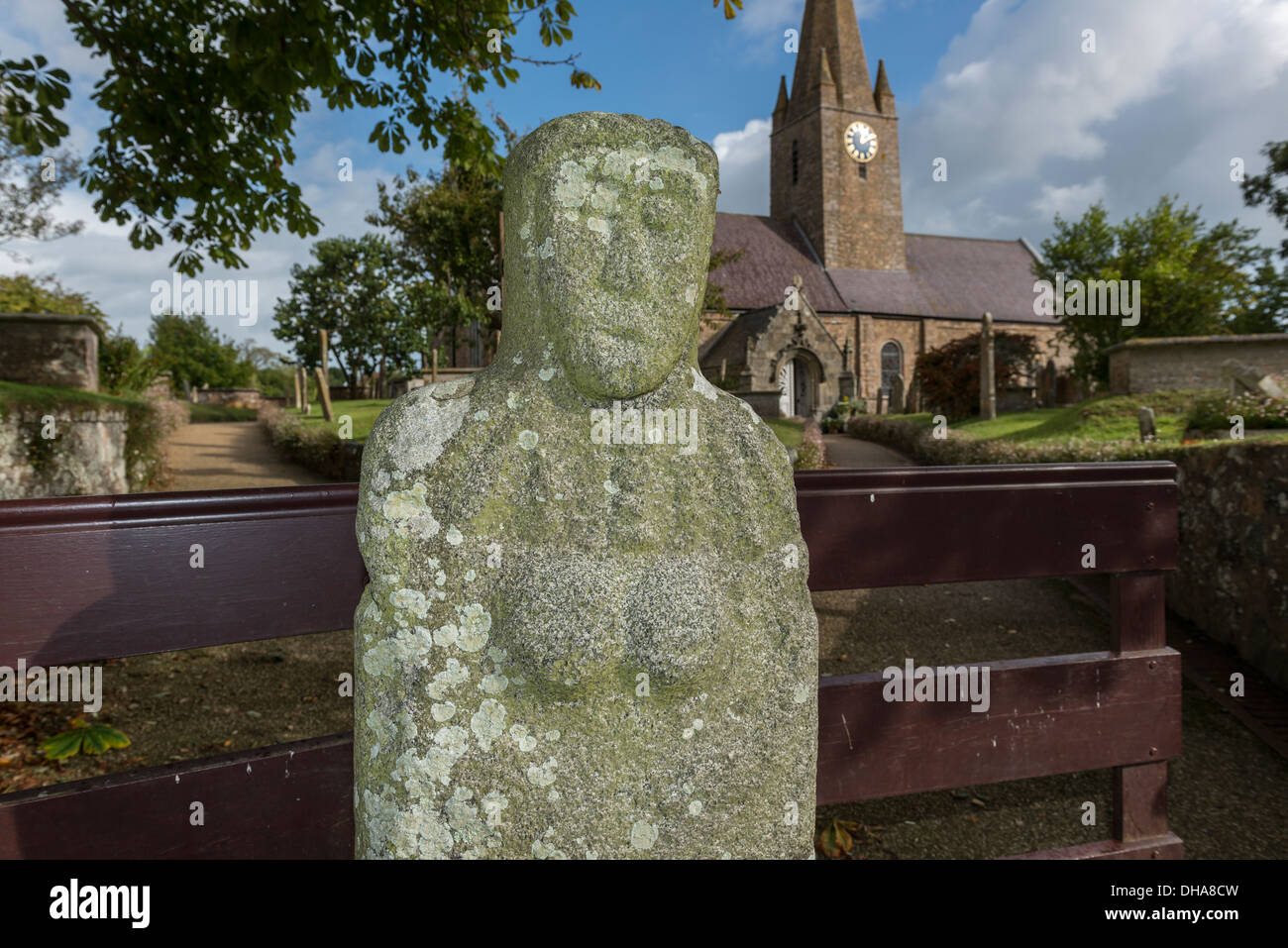 Gran' Mere du Chimquiere or Grand Mother of the Cemetery at St Martin's church, Guernsey, Channel Islands. - Stock Image