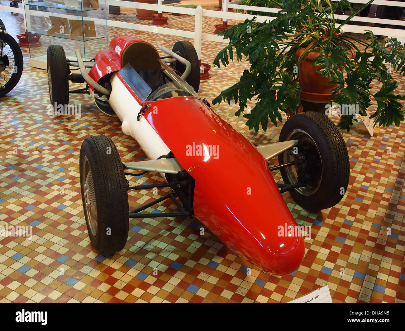 1965 Panhard Formulte IV - Marque AUMONT, air cooled 2 horizontal placed cylinders, 5cv, at the museum of automobiles at Talmont St.Hilaire 1 - Stock Image