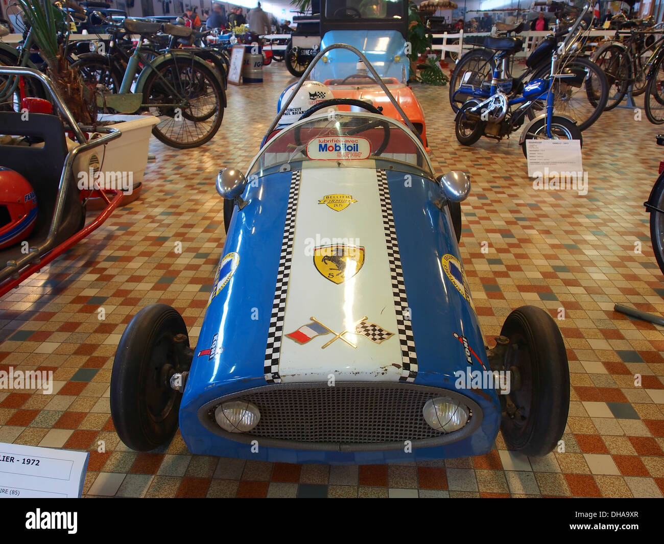 1972 Bellier Formule 85 at the museum of automobiles at Talmont St.Hilaire 2 - Stock Image