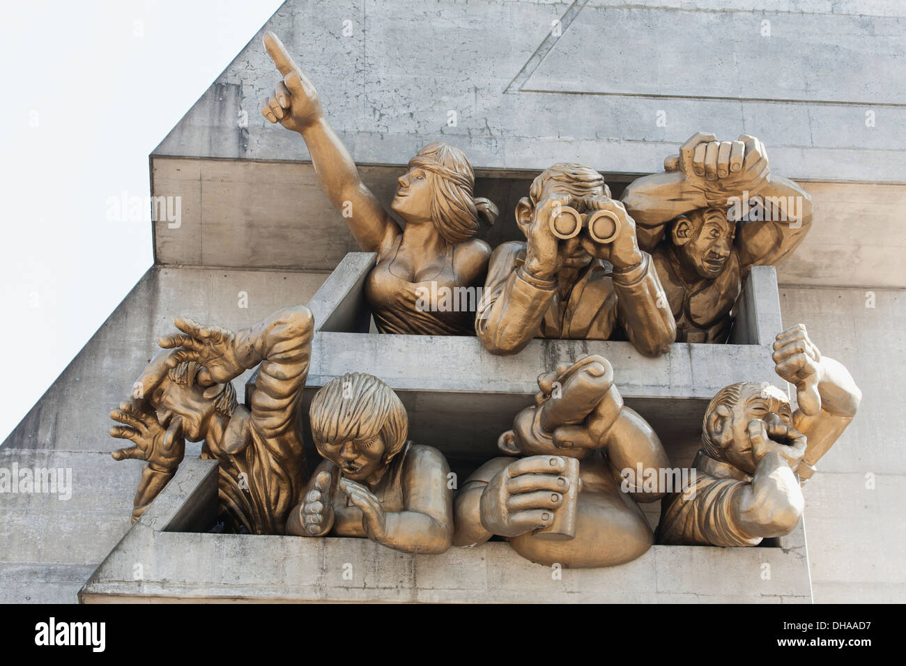 Close Up Of Sculpture On The Outside Of The Skydome; Toronto, Ontario, Canada - Stock Image