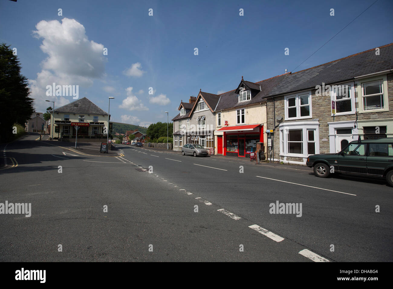 The village of Sennybridge near Brecon. Two servicemen were killed in an incident and a third seriously injured. - Stock Image
