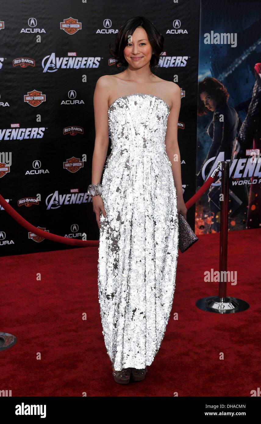 Ryoko Yonekura World Premiere of 'The Avengers' at El Capitan Theatre - Arrivals Hollywood California - 11.04.12 - Stock Image