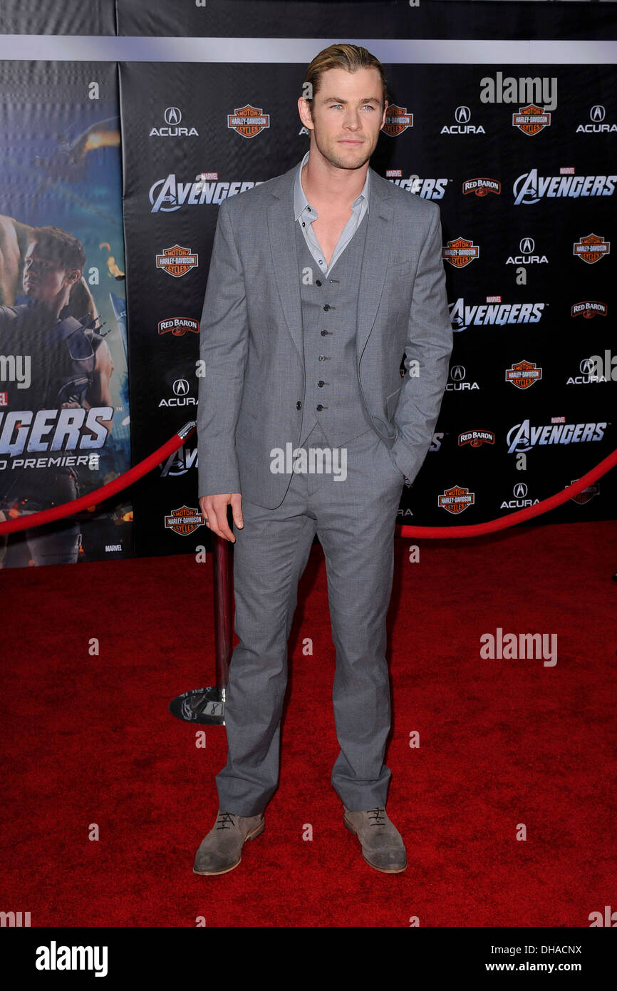 "Chris Hemsworth World Premiere of ""The Avengers"" at El Capitan Theatre - Arrivals Hollywood California - 11.04.12 Stock Photo"