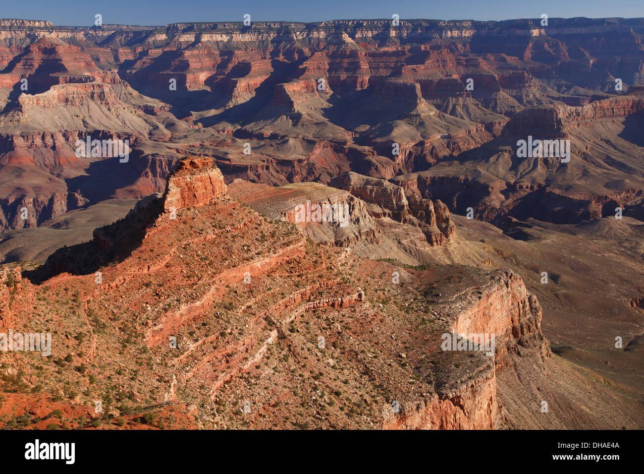 South Kaibab Trail, Grand Canyon National Park, Arizona. - Stock Image