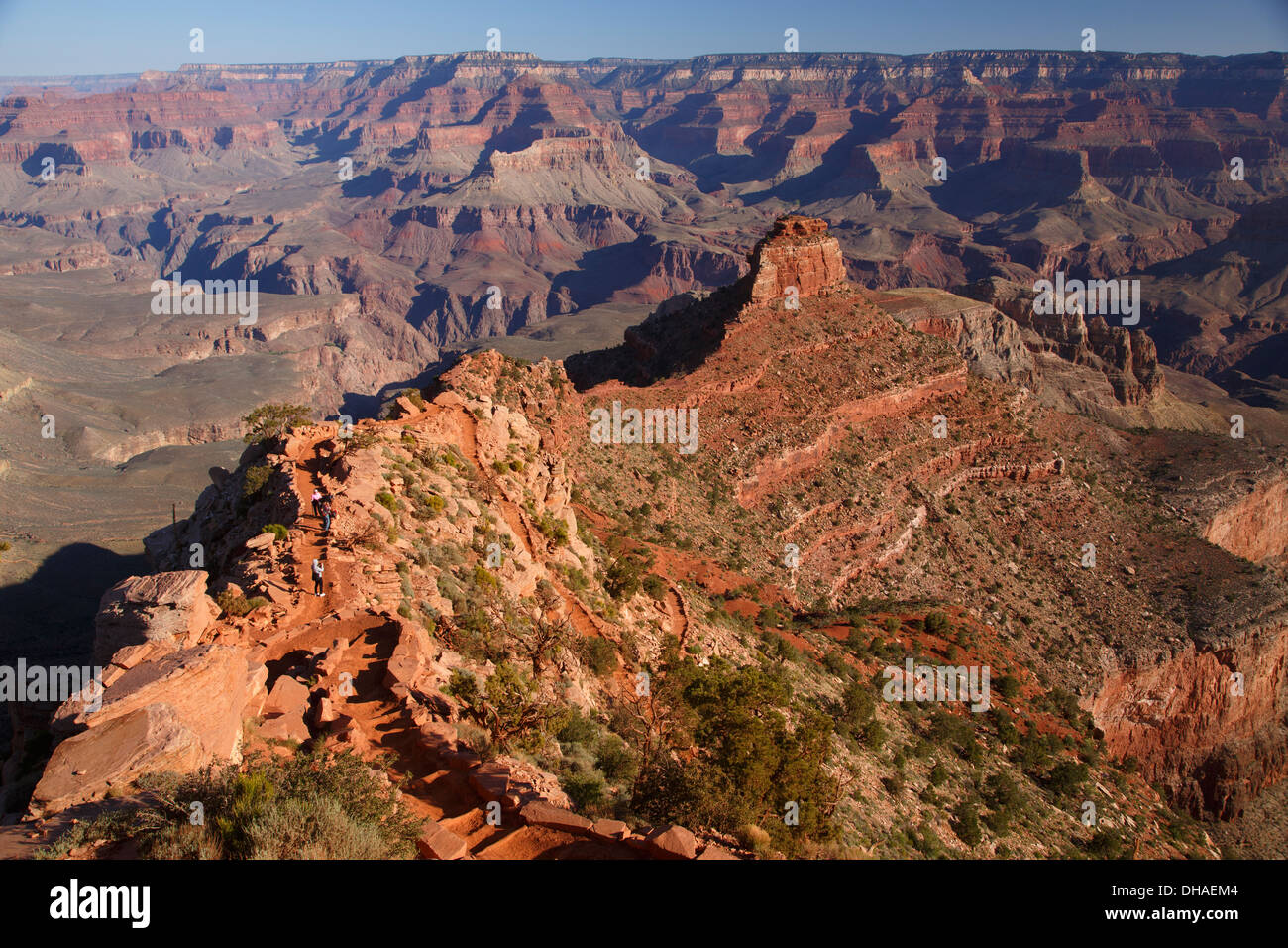 View from Ooh-ahh Point, South Kaibab Trail, Grand Canyon National Park, Arizona. - Stock Image