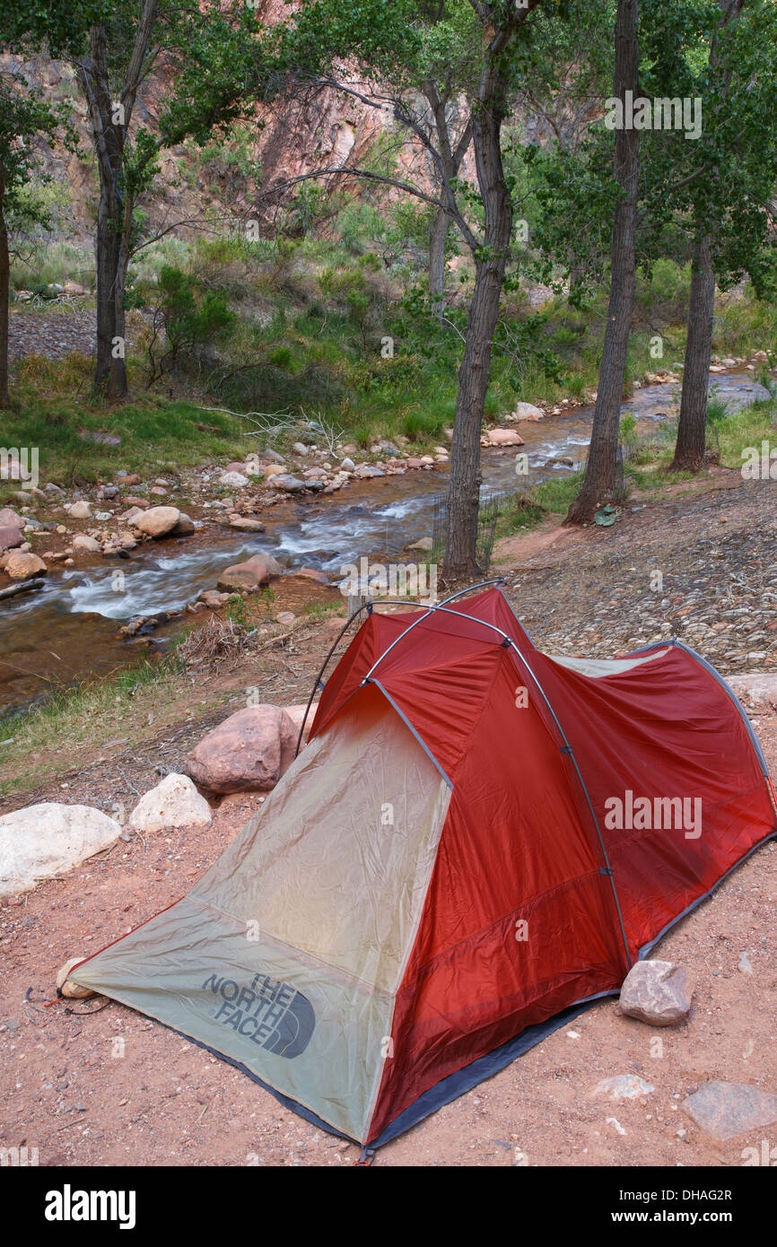 Bright Angel creek and Campground and the end of the South Kaibab Trail, Grand Canyon National Park, Arizona. - Stock Image