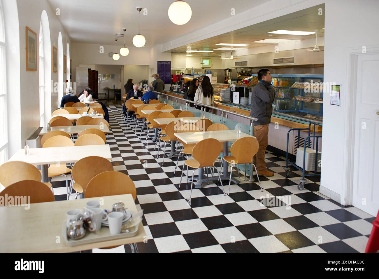 cafe in Portmeirion village, north Wales Stock Photo