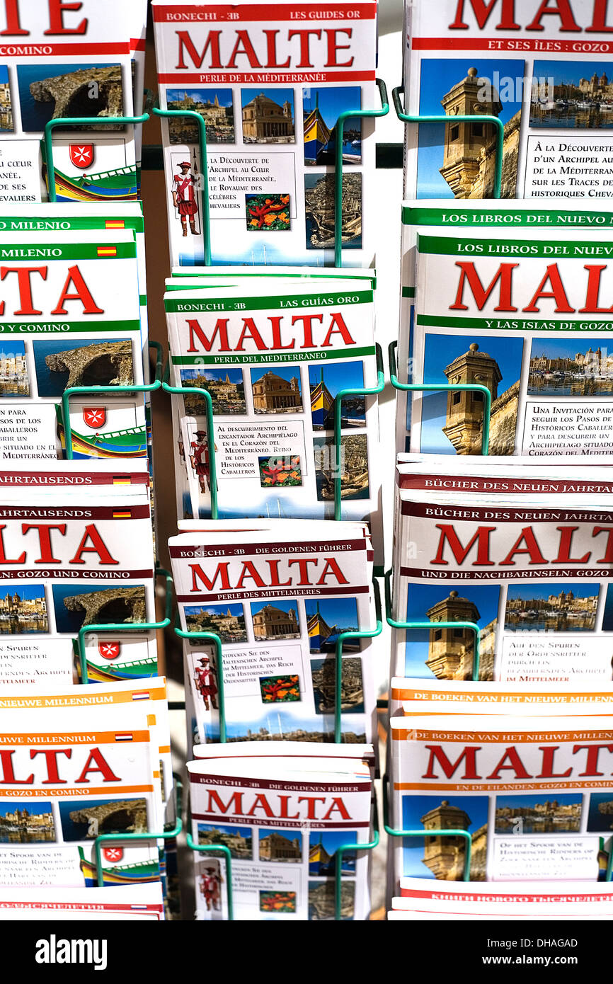 Malta. Tourism. Malta holiday guides and brochures. - Stock Image