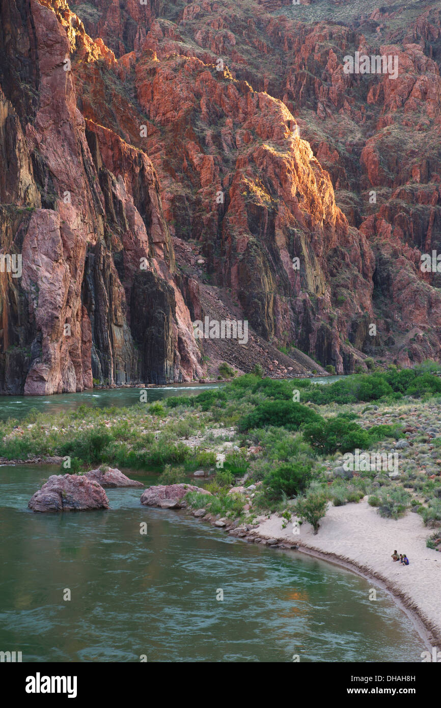 Colorado River from the end of the South Kaibab Trail, Grand Canyon National Park, Arizona. - Stock Image