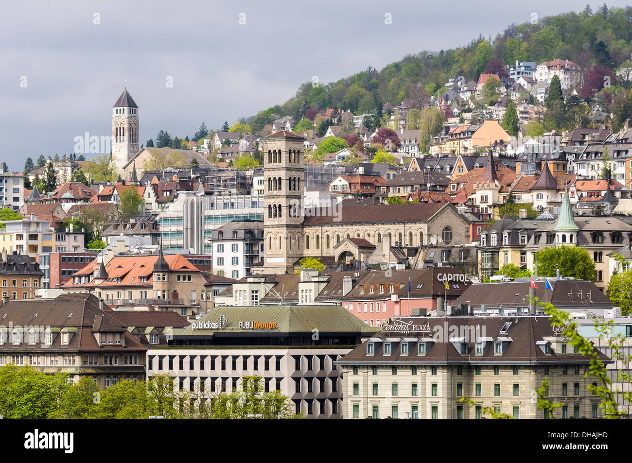 Zurich, Switzerland: Old city center - Stock Image
