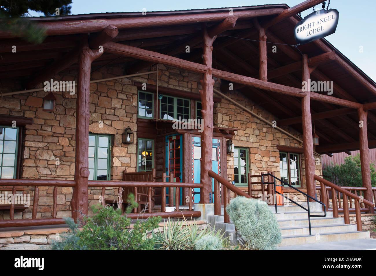 Bright Angel Lodge, South Rim, Grand Canyon National Park, Arizona. - Stock Image