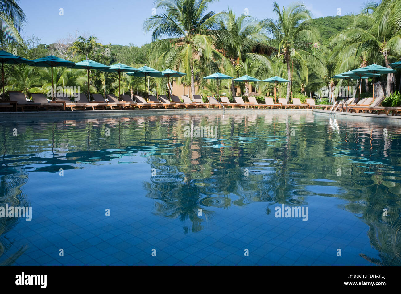 One of several swimming pools at Four Seasons Costa Rica on the Peninsula Papagayo in the Guanacaste region of the west coast. - Stock Image
