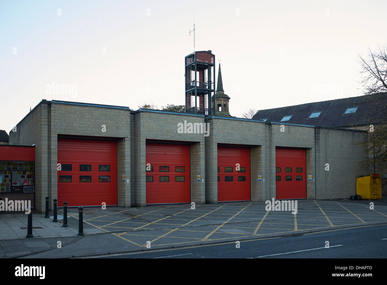 Exterior of the Fire Station in Lancaster City Centre UK - Stock Image