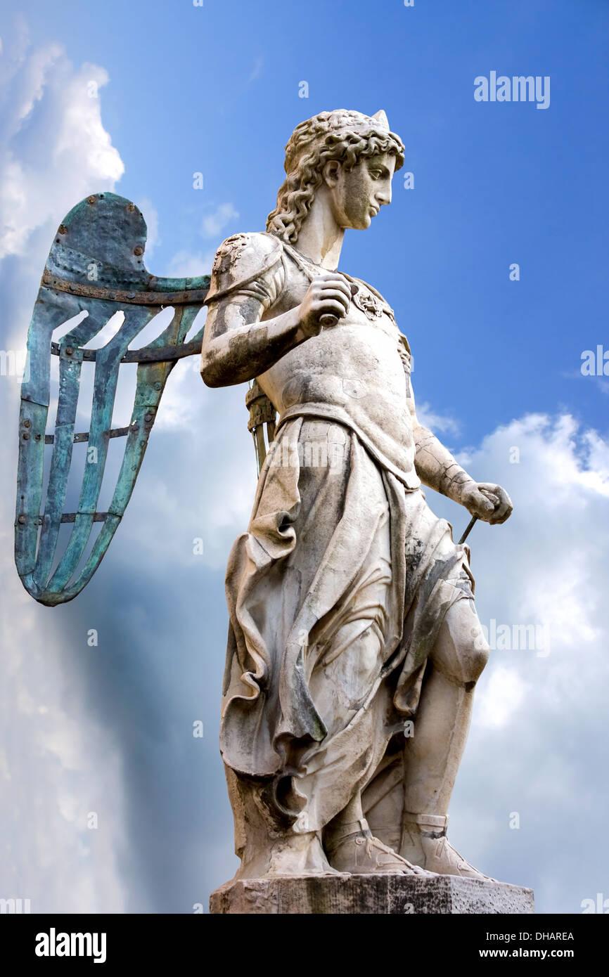 St. Michael - Statue By Raffaello da Montelupo - Stock Image