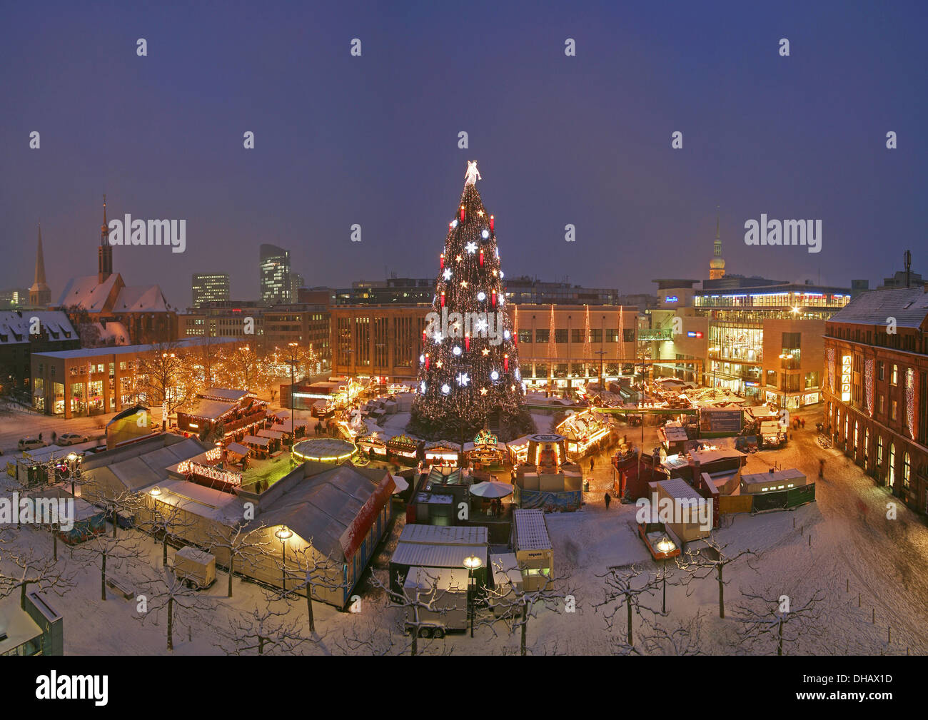 Dortmund Germany The Worlds Largest Christmas Tree On The Christmas Stock Photo Alamy