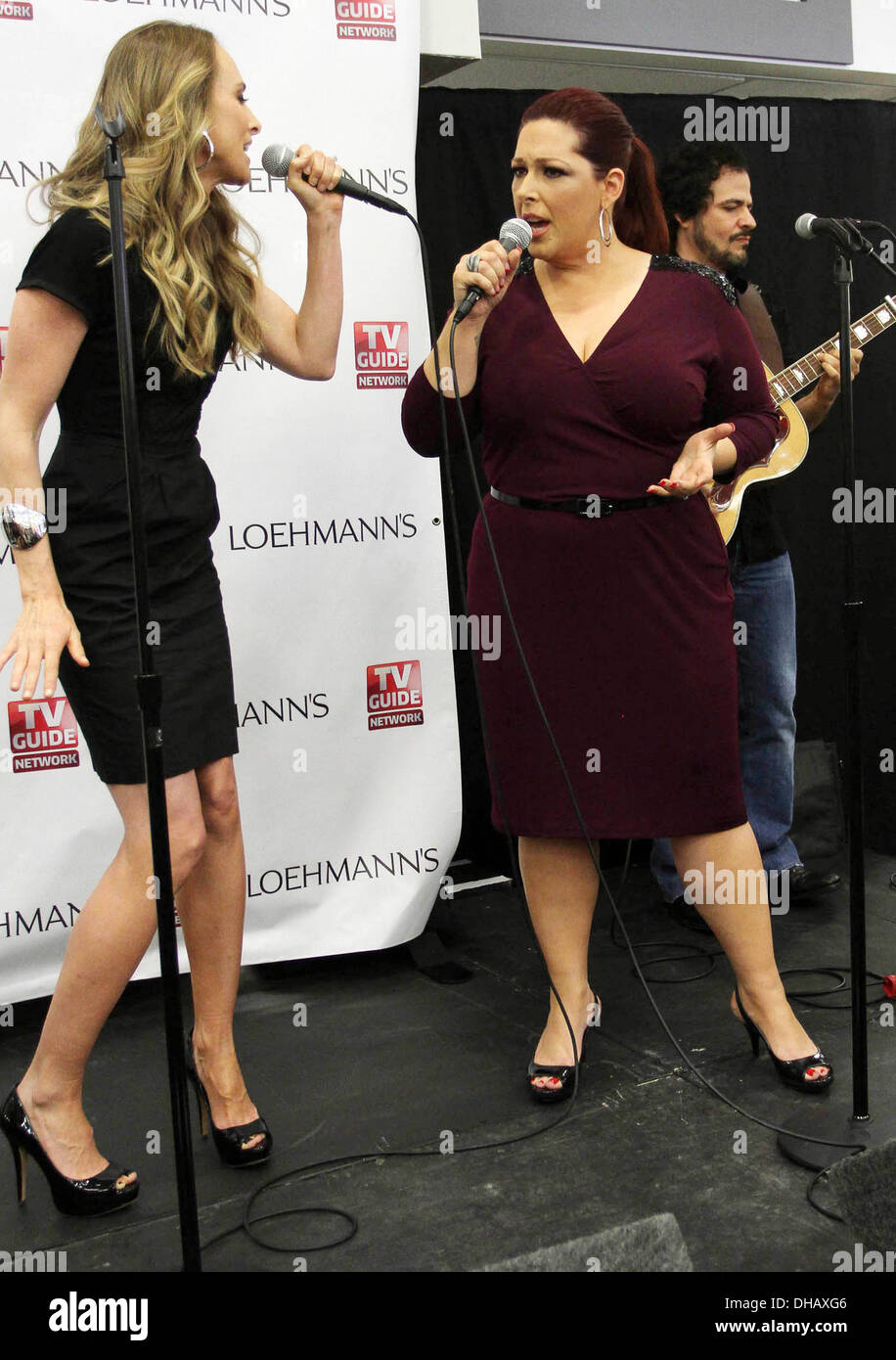 Chynna Phillips Wendy Wilson TV Guide Network's 'Wilson Phillips: Still Holding' Launch Party and CD Signing/Performance for - Stock Image