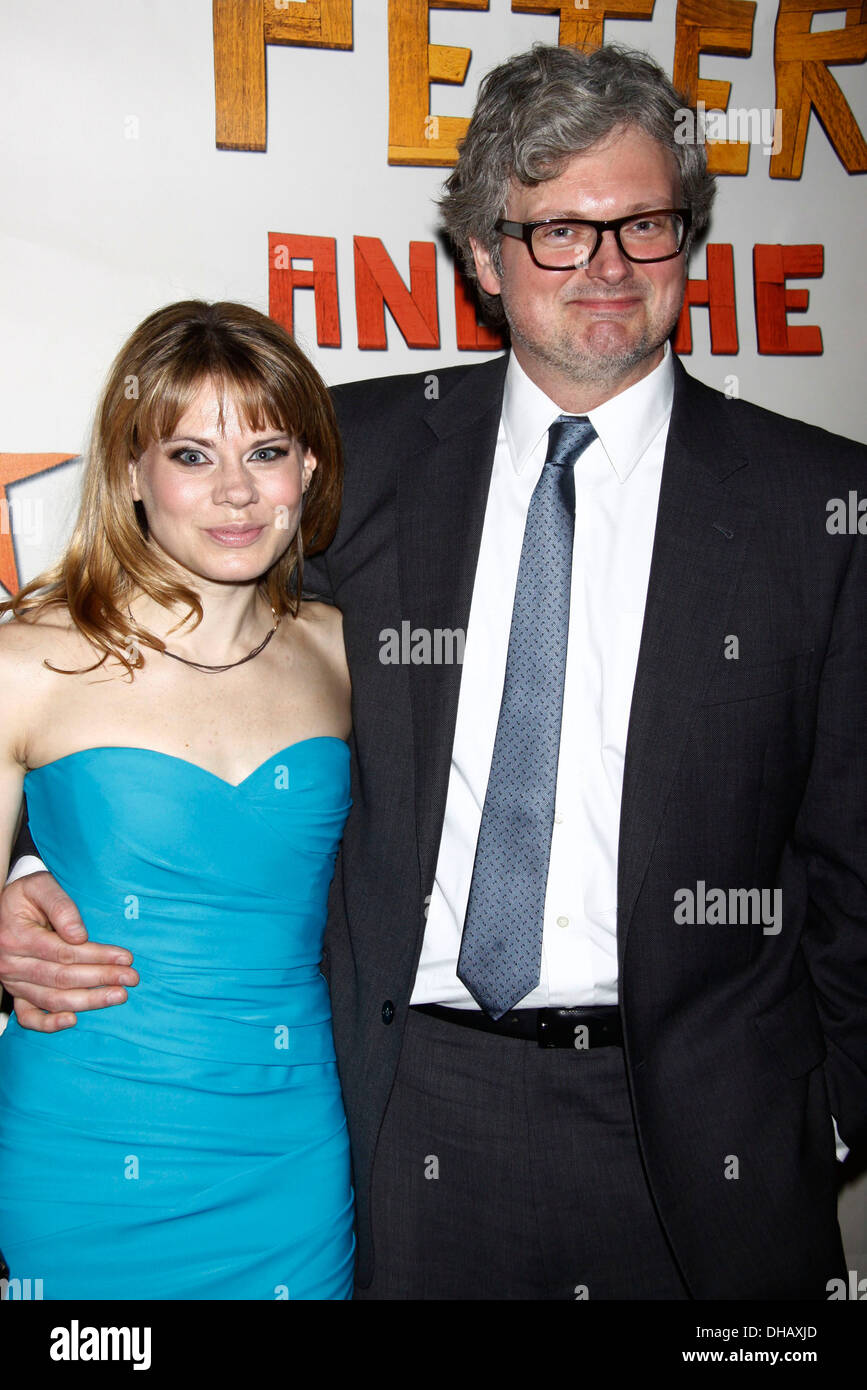 Celia Keenan-Bolger and John Ellison Conlee Broadway opening night after party for 'Peter and Starcatcher' held at McKittrick - Stock Image