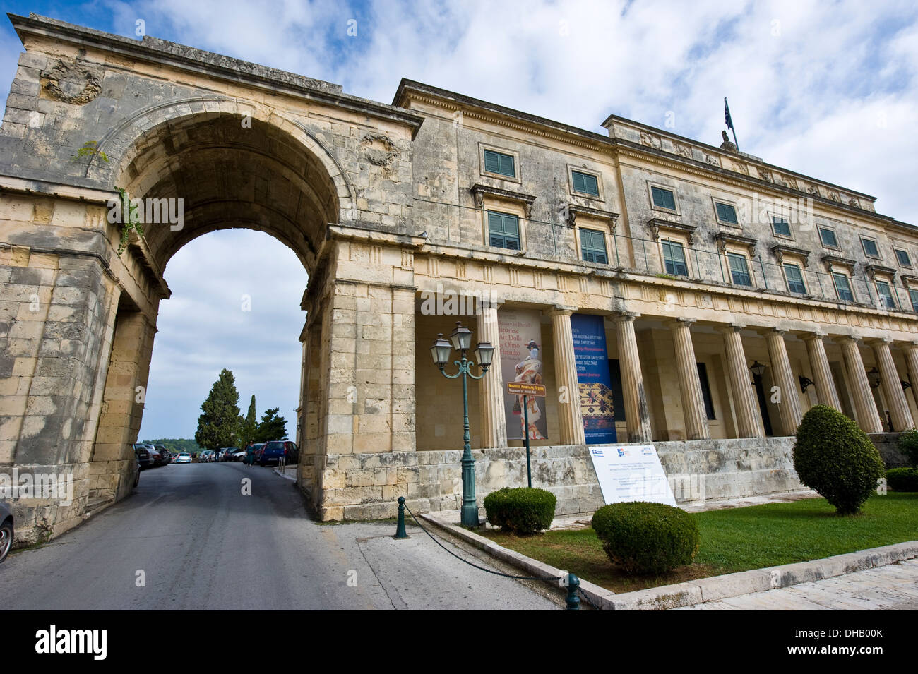 Museum of Asian art of Corfu located in the Palace of St. Michael and St. George in Corfu, Greece. - Stock Image