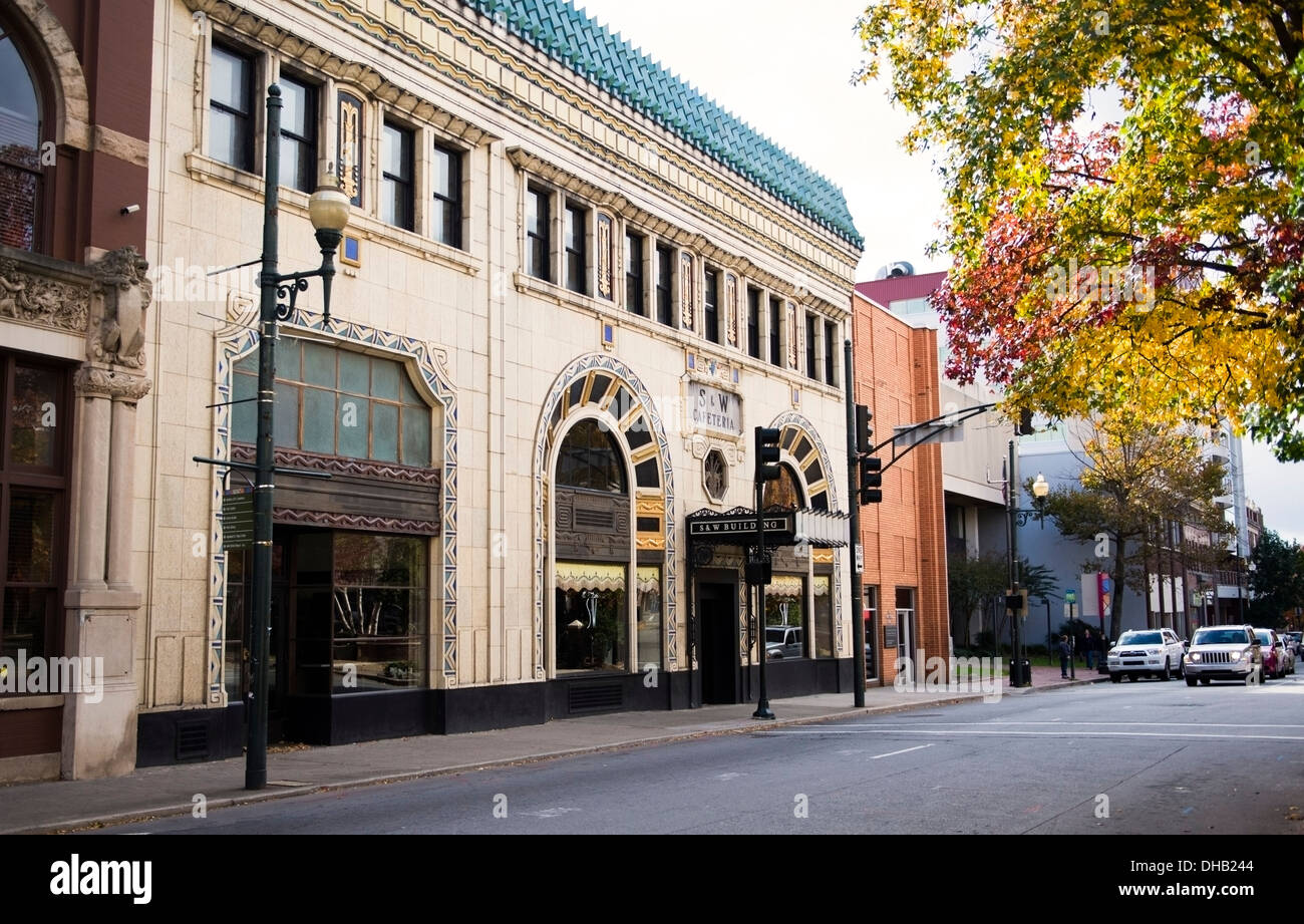 The S&W Building in Asheville North Carolina - Stock Image