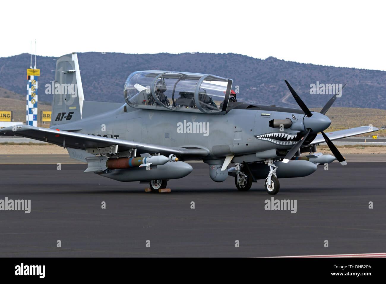 Hawker Beechraft AT-6 Texan II - Stock Image
