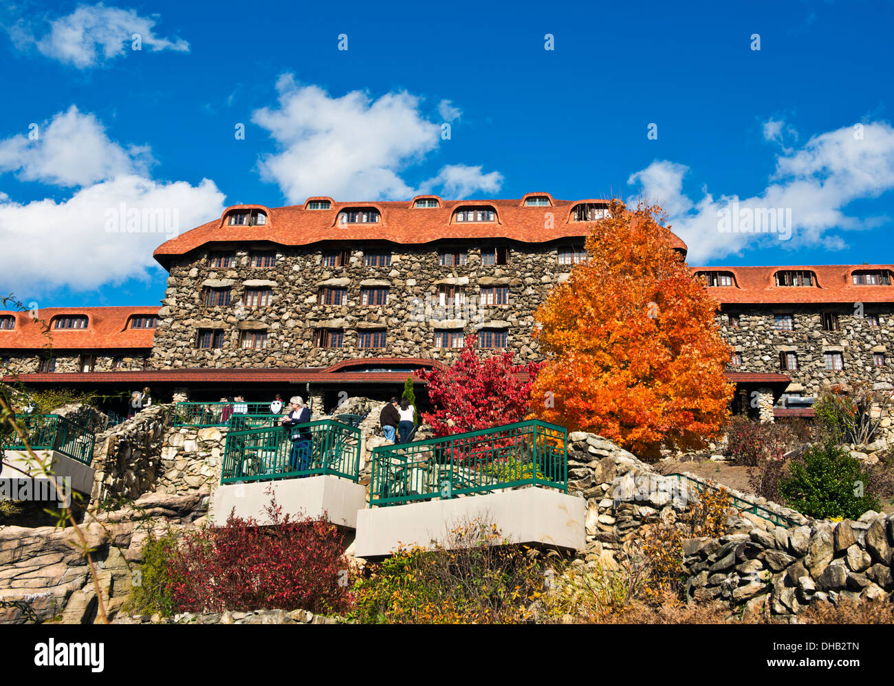 Autumn colors at the Grove Park Inn,  Asheville North Carolina - Stock Image