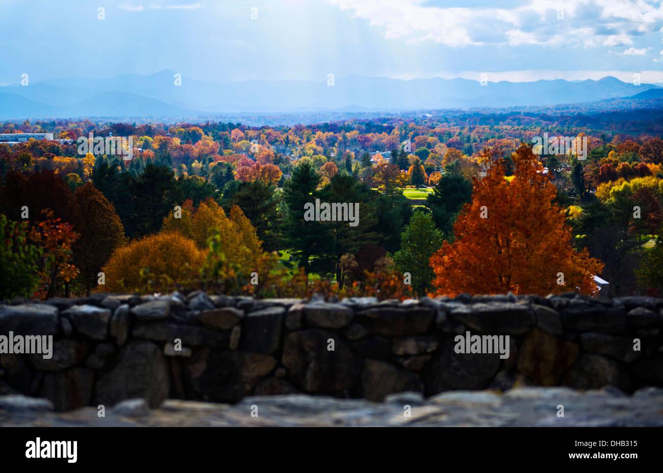 Autumn colors at the Grove Park Inn, Asheville North Carolina - Stock Image