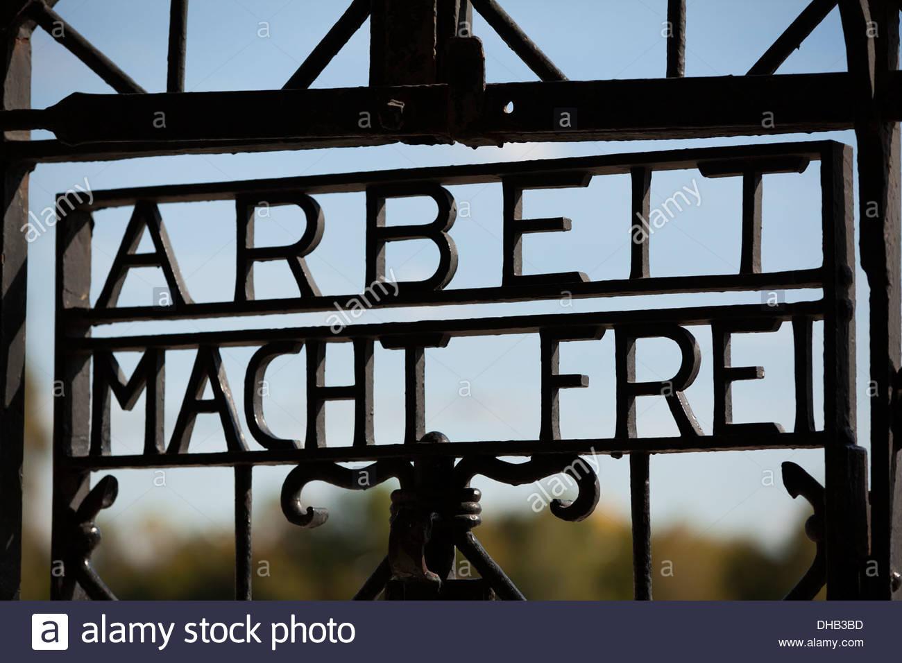 Dachau Concentration Camp, Dachau, Germany - Stock Image