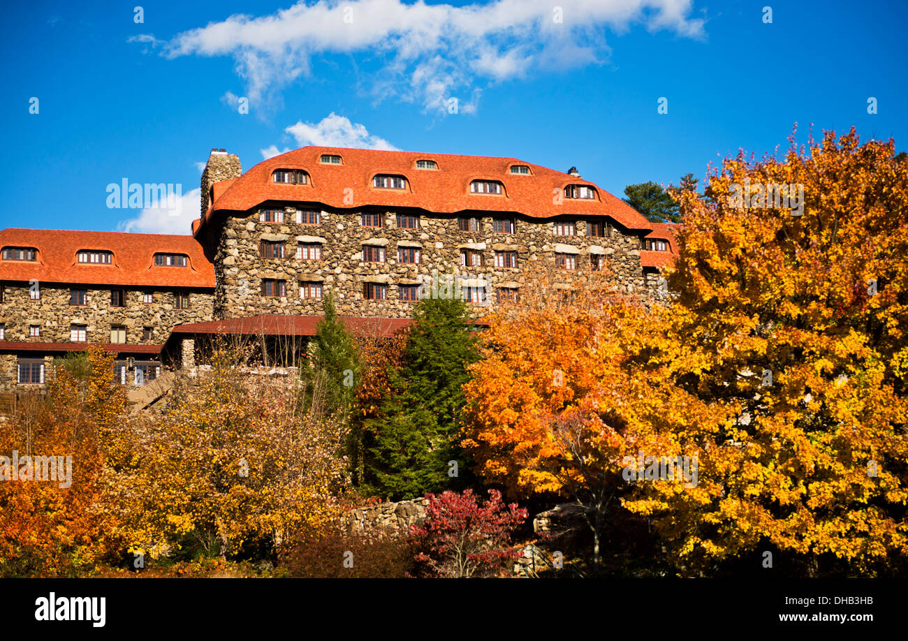 Autumn colors at the Grove Park Inn Asheville North Carolina - Stock Image