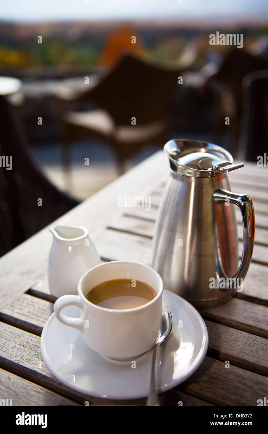 Coffee setting at the Grove Park Inn Asheville North Carolina - Stock Image