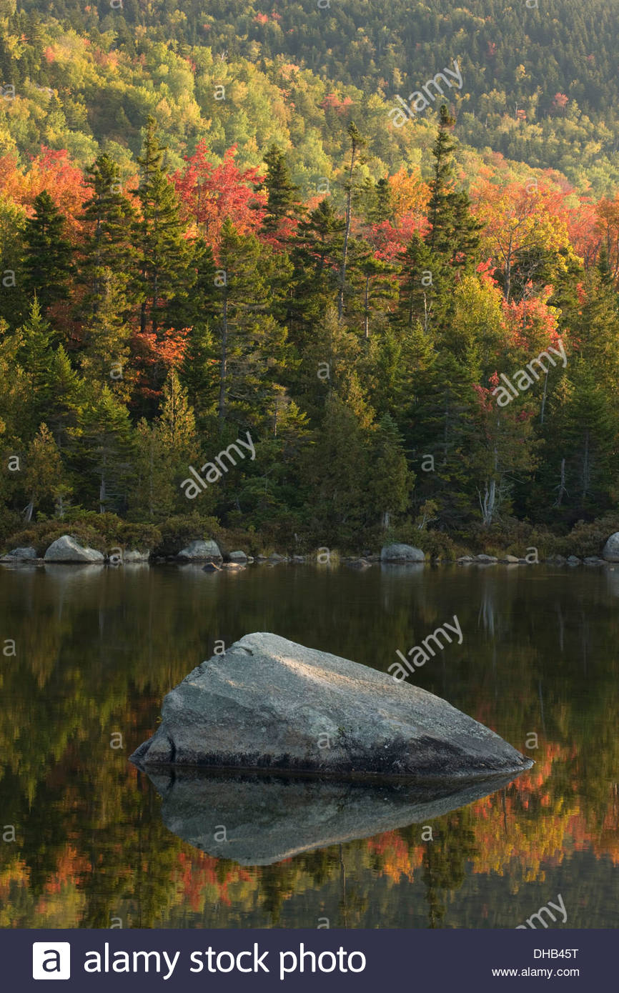Sandy Stream Pond, Baxter State Park, Maine - Stock Image