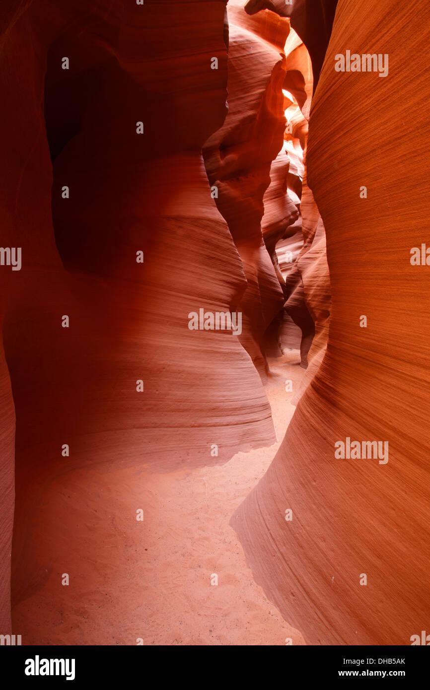 Slot canyon known as Secret Canyon on Navajo land, Page, Arizona. Stock Photo
