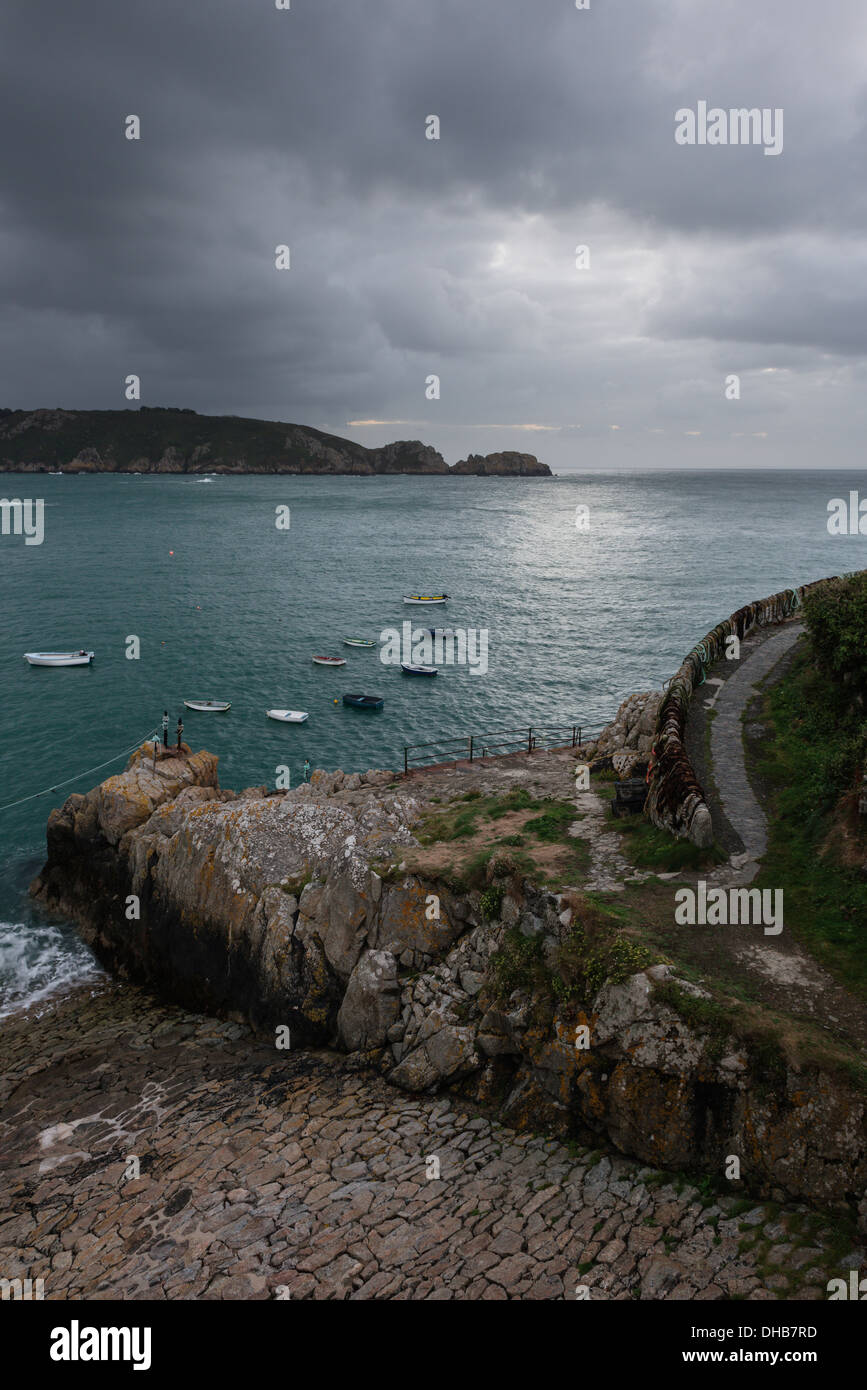 Saints Bay Harbour, Guernsey, Channel Islands. Stock Photo