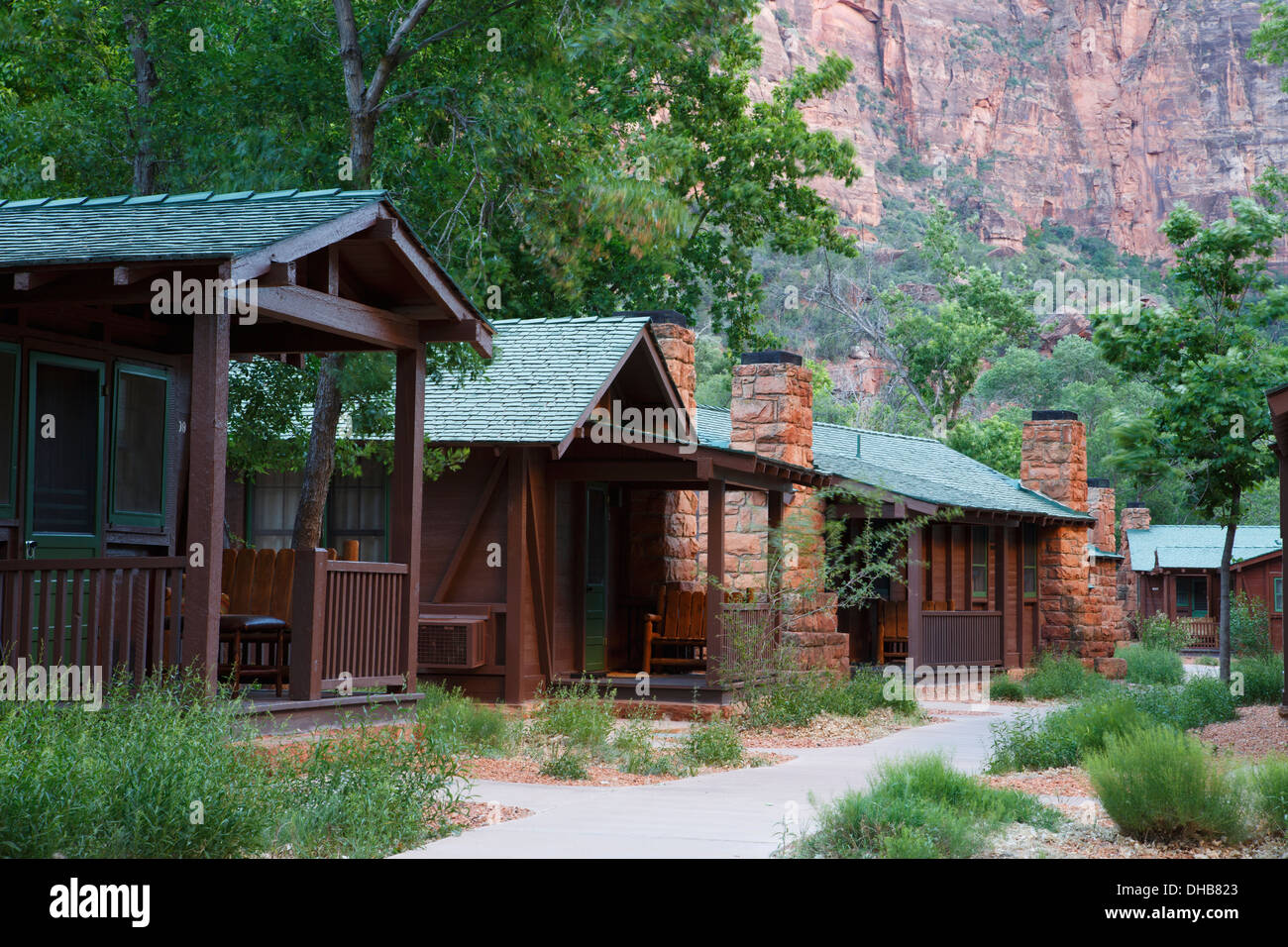 Zion Lodge inside Zion National Park, Utah. - Stock Image